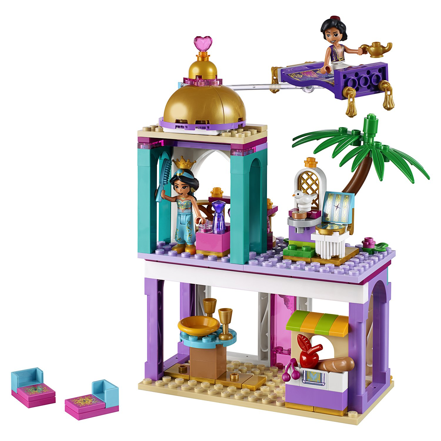 Lego Disney Princess 41161 Приключения Аладдина и Жасмин во дворце